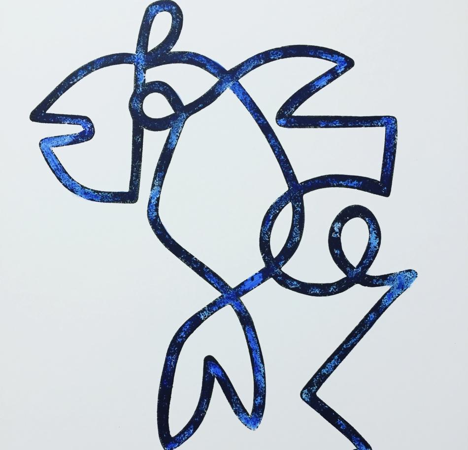 Vogelvis blauw